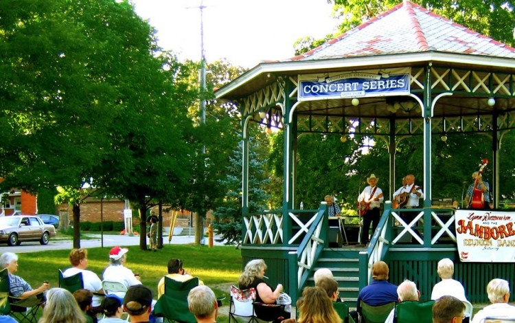 The Jamboree Reunion Band in Elmira's Gore Park