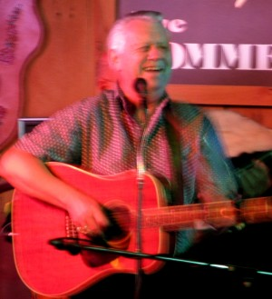 Larry Mercey performing at at Lynn's CD release party at Paul Weber's Commercial Tavern in Maryhill