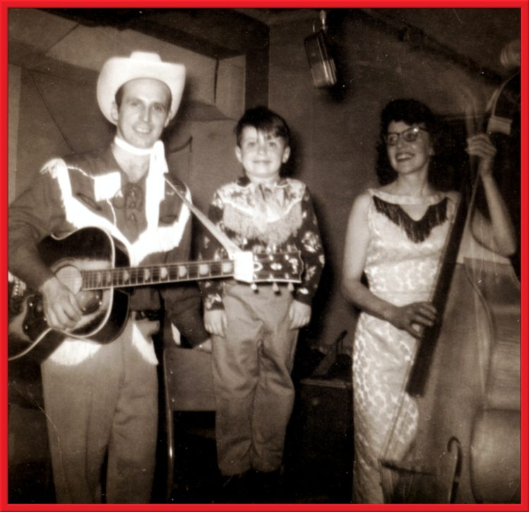 Lance sings on the radio with his parents, Lynn and Laura circa 1950s